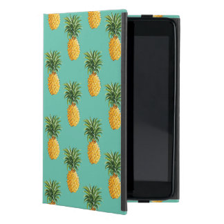 Tropical Pineapples On Teal iPad Mini Cover