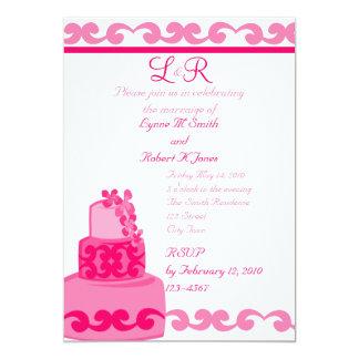 Tropical Pink 13 Cm X 18 Cm Invitation Card