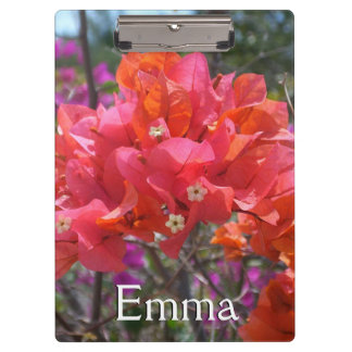 Tropical Pink Bougainvillea Clipboard
