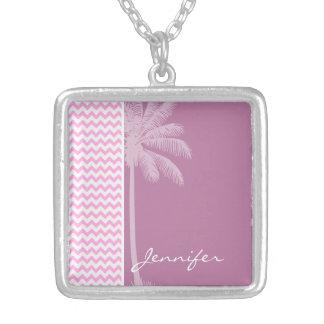 Tropical Pink Chevron Pattern Jewelry