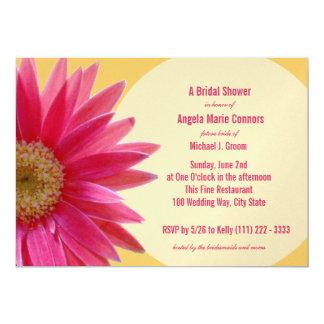 "Tropical Pink Daisy Bridal Shower 5"" X 7"" Invitation Card"