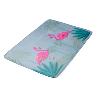 Tropical Pink Flamingo Bathroom Rug Mat Home Decor