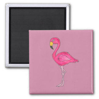 Tropical Pink Flamingo Bird Magnet