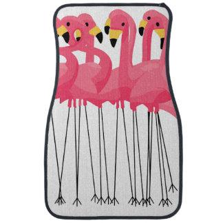 Tropical Pink Flamingo Design Car Mat