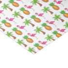 Tropical Pink Flamingo Green Palm Tree Pineapple Tissue Paper
