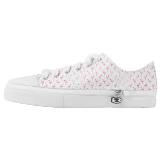 Tropical Pink Flamingo Low Top Shoes Printed Shoes