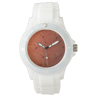 Tropical Pink Flamingos Sporty Watch