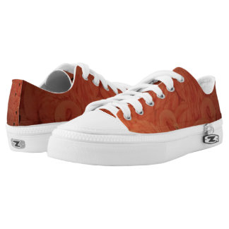 Tropical Pink Flamingos Zipz Low Top Shoes