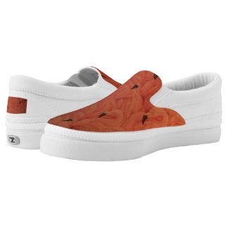 Tropical Pink Flamingos Zipz Slip On Shoes