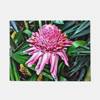 Tropical Pink Ginger Door Mat