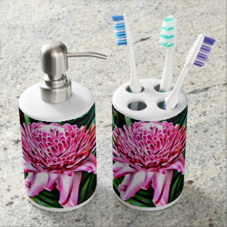 Tropical Pink Ginger Soap and Toothbrush Set