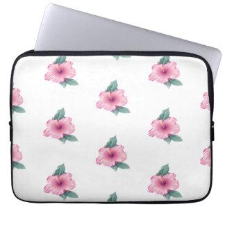 Tropical Pink Hibiscus Laptop Computer Sleeve