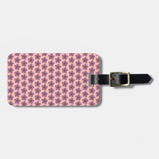 Tropical Pink Hibiscus Luggage Tag