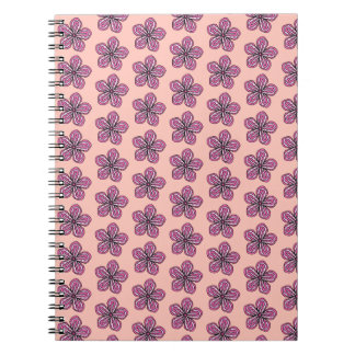 Tropical Pink Hibiscus Spiral Notebook