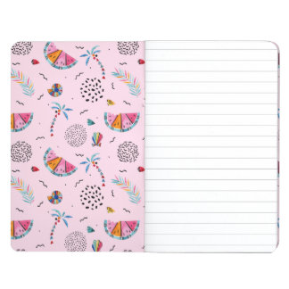 Tropical Pink Memphis Style Pattern Journal