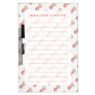 Tropical | Pink Pineapple Dry Erase Board