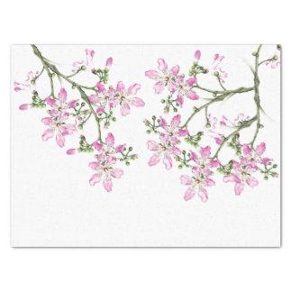 Tropical Pink Silk Floss Flowers Tissue Paper