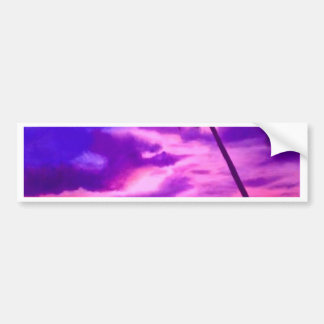 Tropical Pink Sunset Car Bumper Sticker