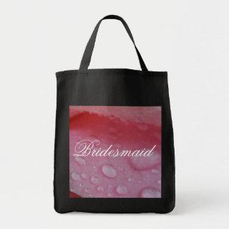 Tropical Pink wedding Grocery Tote Bag