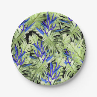 Tropical plant 2 . 7 inch paper plate