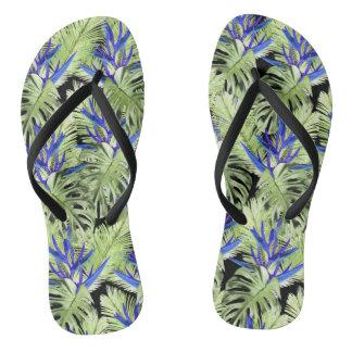 Tropical plant 2 flip flops