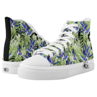 Tropical plant 2 . printed shoes