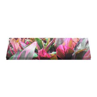 Tropical Plant Foliage Garden Wrapped Canvas Art