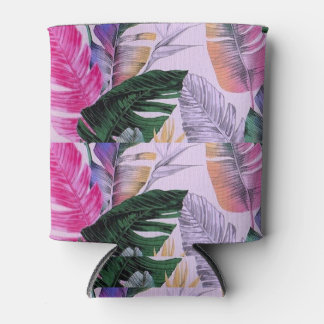 Tropical Plant Pattern Can/Bottle Cooler