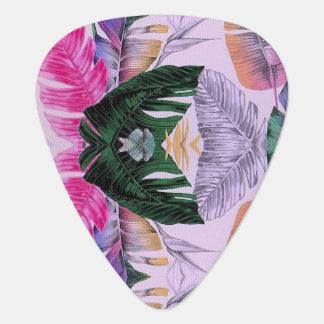 Tropical Plant Pattern Guitar Pick