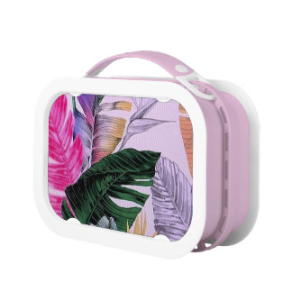 Tropical Plant Pattern Kids Lunchbox
