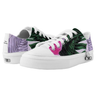 Tropical Plant Pattern Laced Shoes