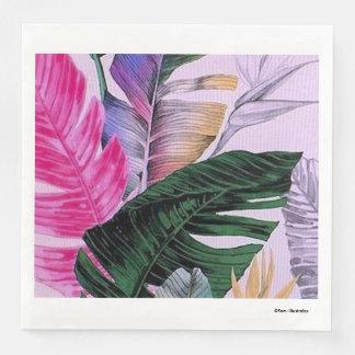 Tropical Plant Pattern Napkins Paper Napkin