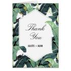 Tropical Plantation Palm Wedding Thank You Card