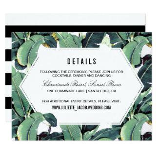 Tropical Plantation Reception Information Card