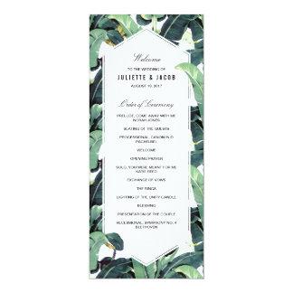 Tropical Plantation Wedding Ceremony Program