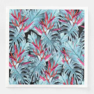 Tropical plants 1 disposable serviettes