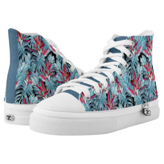 Tropical plants 1 . printed shoes