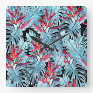 Tropical plants 1 . wallclock