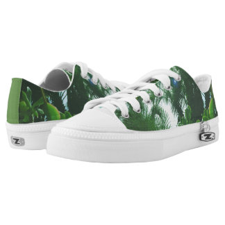 Tropical Plants Low Top Shoes Printed Shoes