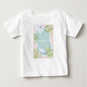Tropical Polar Bear Pool Party Baby T-Shirt