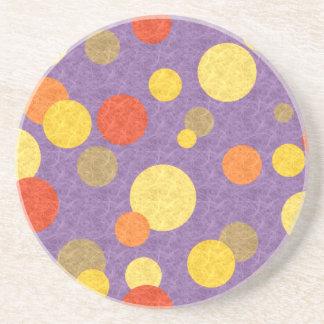 Tropical Polka Dots Drink Coaster