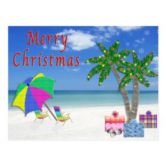 Tropical Postcards  Christmas Beach Cards