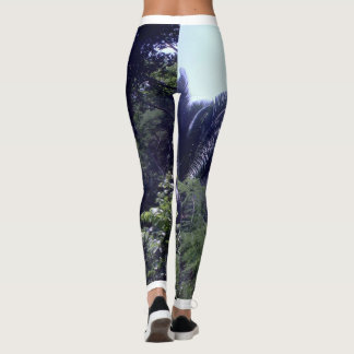 Tropical print leggings