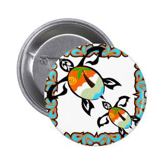 Tropical-print-turtle 6 Cm Round Badge