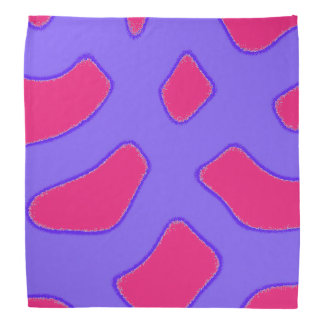 Tropical purple and pink red fantasy pattern bandana