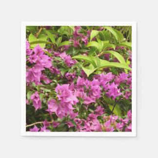 Tropical Purple Bougainvillea Paper Napkin