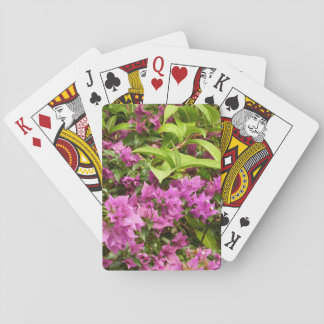 Tropical Purple Bougainvillea Playing Cards