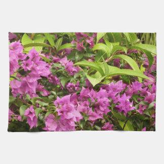 Tropical Purple Bougainvillea Tea Towel