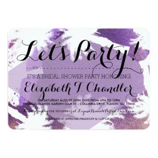 Tropical Purple Bridal Shower Party Invites