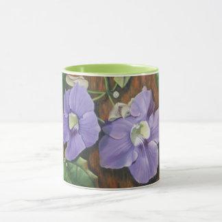 Tropical Purple Flowers Mug